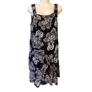 Lola P. Black midi sleeveless dress Size L